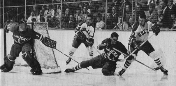 Tony Esposito playing with the Western League Vancouver Canucks.