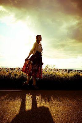 Boheme (boho) flowerprint skirt with ruffle waistline (Model: Cecilia Sandhu)