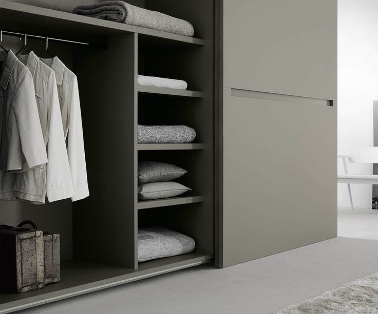 Unique Kleiderschrank Vitro Glasschiebet ren Wei Hochglanz