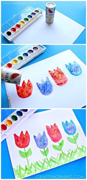 Salt Art for Kids: Spring Tulips Craft | CraftyMorning.com