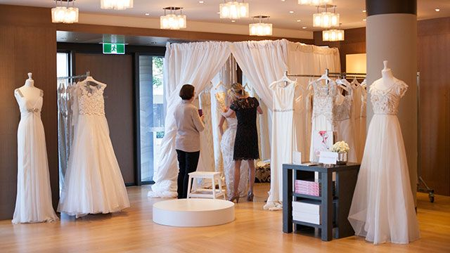 Attendees at the Collette Dinnigan Bridal Showcase had one last chance to purchase Collette Dinnigan bridal gowns.