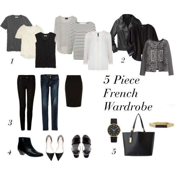 """5 Piece French Wardrobe"" by designismymuse on Polyvore"
