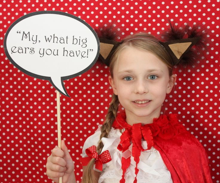 DIY Photobooth-  6 Year old Little Girl-   Little Red Riding Hood Birthday Party