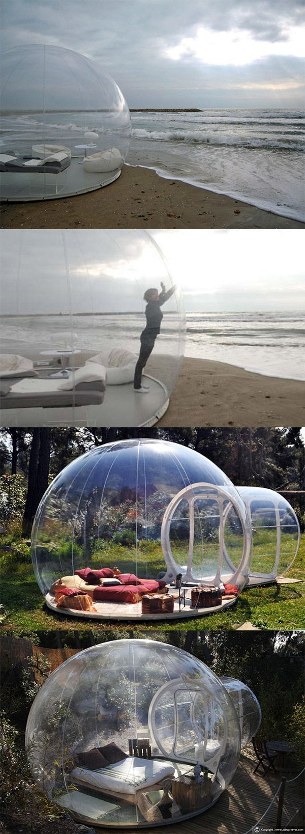 This bubble tent lets you sleep under the stars! #lifeslittlemoments