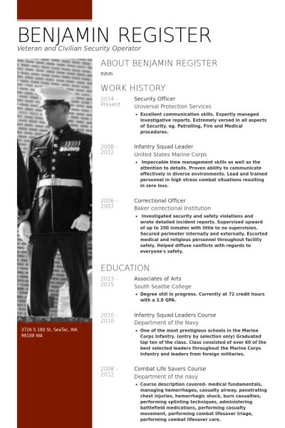 61 best business 101 images on Pinterest Resume ideas, Resume - civilian security officer sample resume