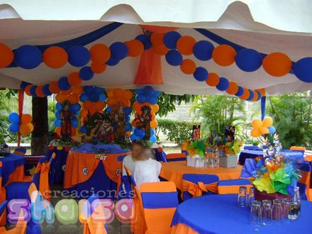 decoracin de fiestas infantiles dragon ball z imagui