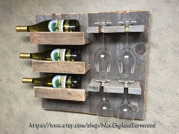 RUSTIC WINE RACK Wall Wine Rack Wine Rack by NewEnglandBarnwood