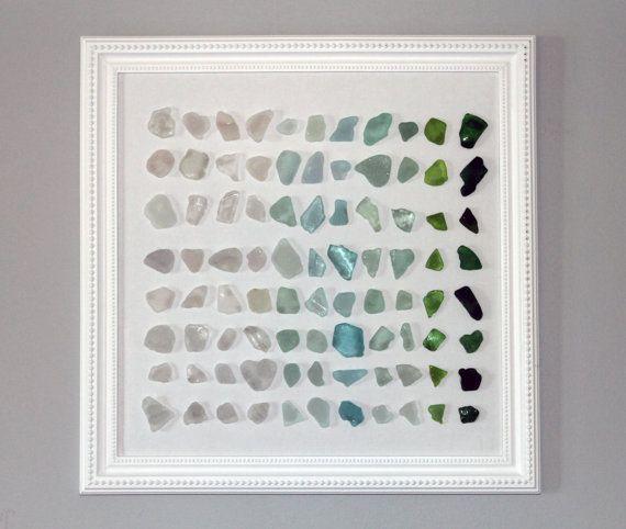 Beach glass artwork (sea glass found in Lake Michigan)