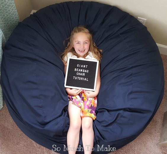 Making your own giant bean bag is the way to go! These comfy, foam-filled chairs cost upwards of $300 to buy new, and by making one y...