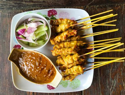 While most Western versions of satay sauce are made with peanut butter, this Thai recipe starts with real peanuts - and you'll taste the difference!