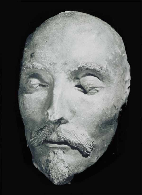 Shakespeare's alleged Death Mask. Could this be the plaster cast made for George Vertue in the 18th Century?