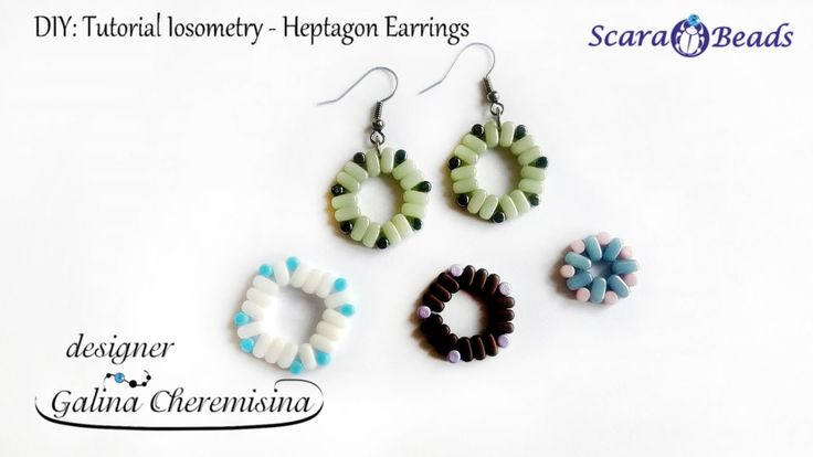 DIY: Tutorial Iosometry Earrings  with IOS® par Puca® beads [Video Tutor... Scarabeads GalinaCheremisina
