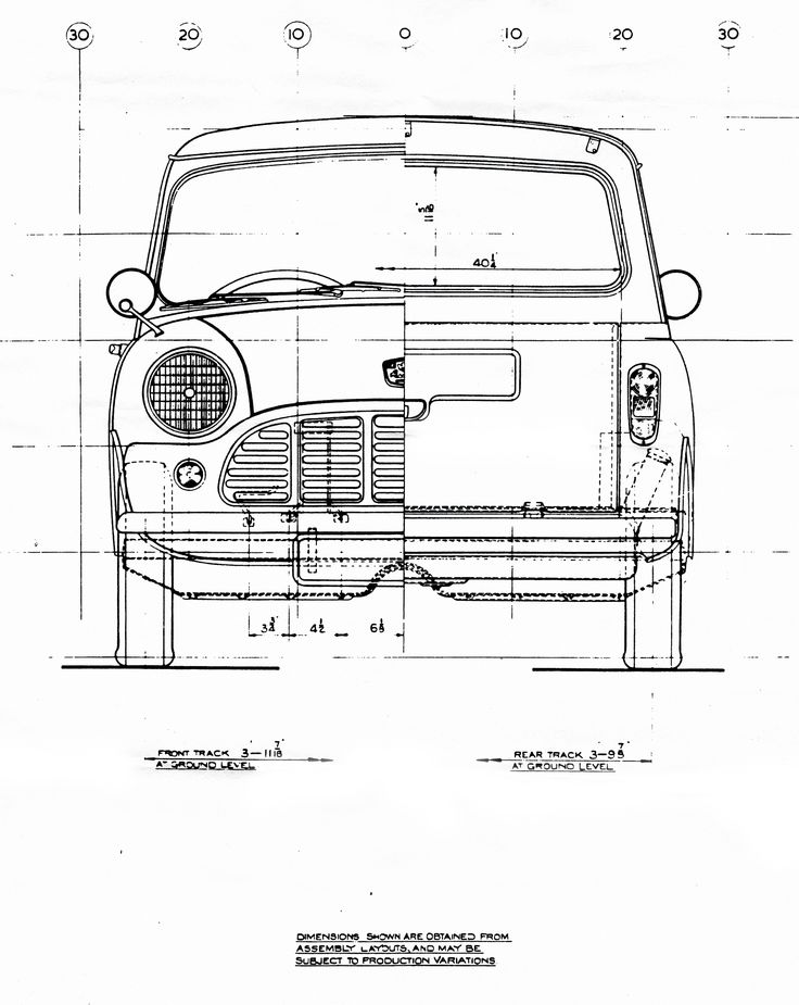 181 best deteil images on pinterest autos motors and car sketch mini pick up blueprint malvernweather Gallery
