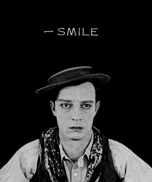 tumblr Buster Keaton never smiled in his movies.