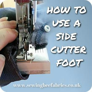 How to use a side cutter foot (aka cut and hem foot). Learn how to cut fabric and stich over edge like an overlocker (serger) on your sewing machine.
