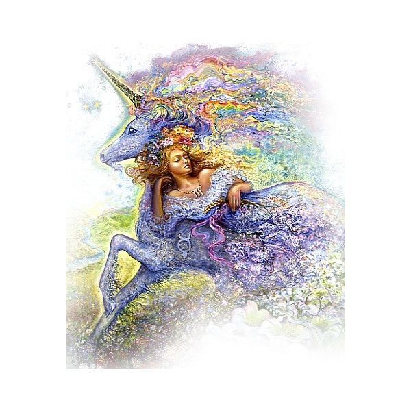 Josephine Wall's Daydream Believer 1 - CSI for Poly ❤ liked on Polyvore featuring fantasy, josephine wall and josephine