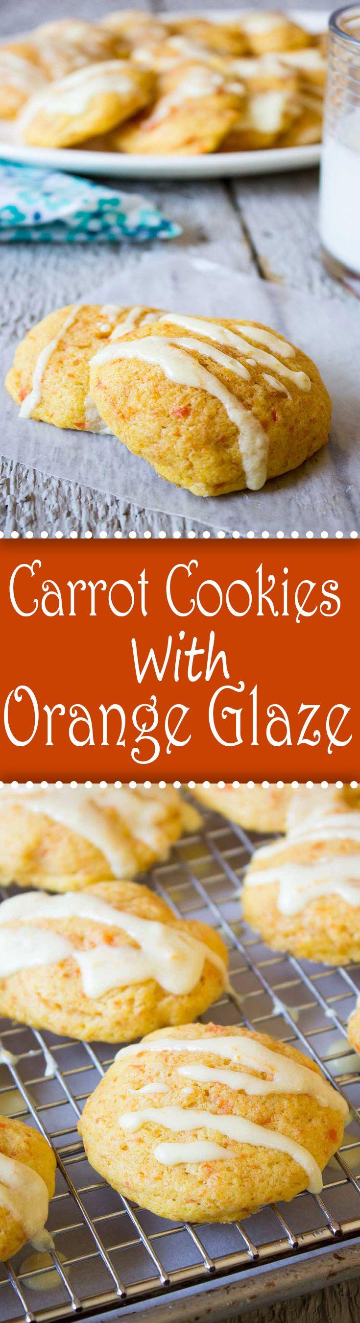 Carrot Cookies with Orange Glaze.