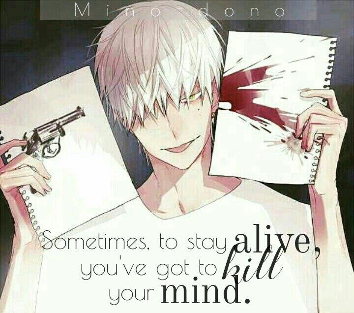 Traduction FR : Parfois, pour rester en vie, tu as tuer ton propre cerveau.