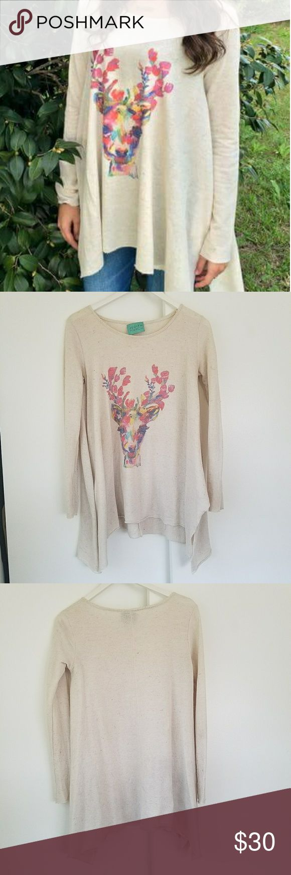 Judith March Deer Sweater - Small Judith March, boutique quality deer sweater. No Stains, Holes, or Tears. Always Hang Dried. Judith March Tops