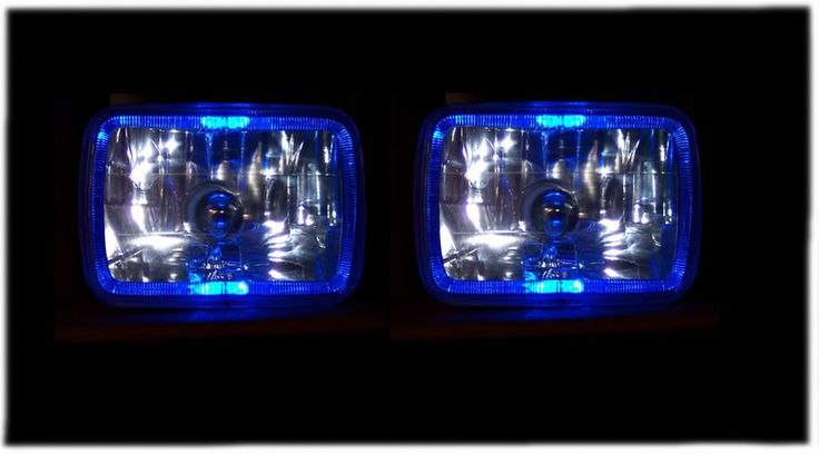 jeep XJ blue headlights | these would look good on The Bruiser!