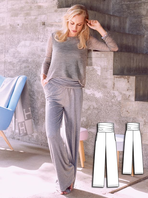 Jersey Pants 01/2016 #112 http://www.burdastyle.com/pattern_store/patterns/jersey-pants-012016?utm_source=burdastyle.com&utm_medium=referral&utm_campaign=bs-tta-bl-151214-YogaRetreatCollection112