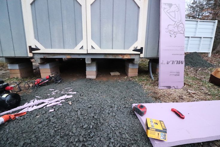 Diy shed insulation tutorial insulating floor joists in a