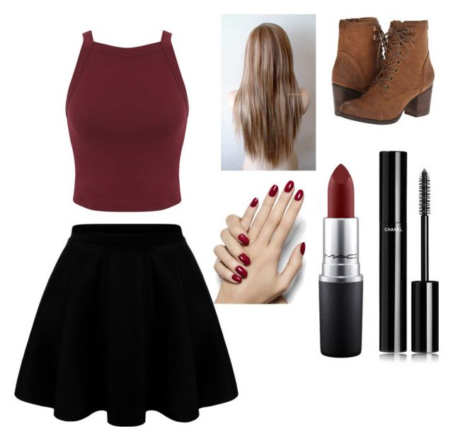 """""""Untitled #6"""" by xoxocloe ❤ liked on Polyvore featuring Miss Selfridge, Madden Girl, Chanel and MAC Cosmetics"""
