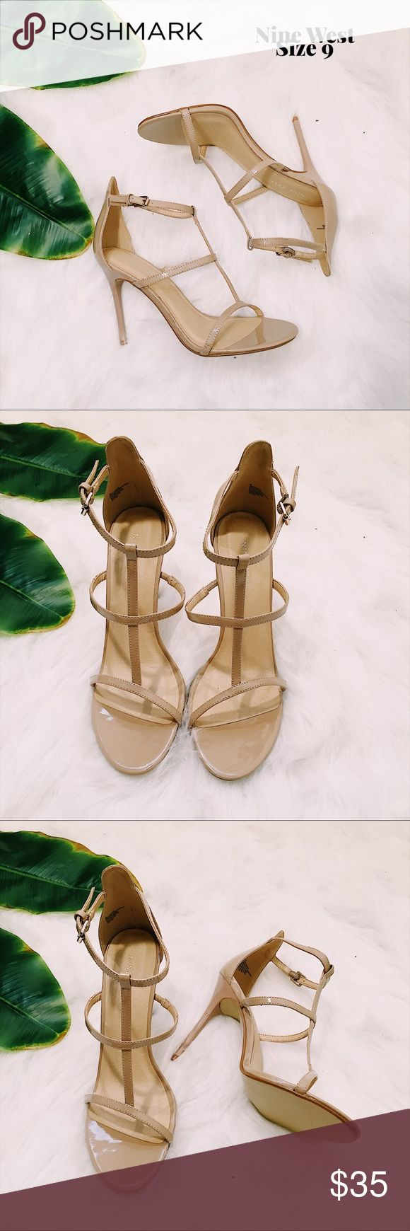 Nine West Natural Sweet as Pie T-Strap Sandals 9 Nine West Sweet as Pie nude t-strap heels  Size 9 Great, like new condition   📷 Please see all photos - we do our best to accurately capture condition, measurements & all blemishes in our photos 📷   🌼 Smoke/pet free home 🌼  🌸 All clothing is freshly laundered before shipment. 🌸  ✨ Reasonable Offers Accepted ✨ Nine West Shoes Heels