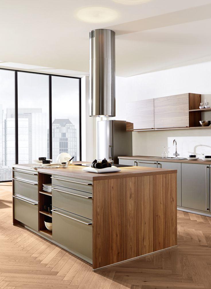 Loft küche großstadt new york holz grün mit tollem ausblick