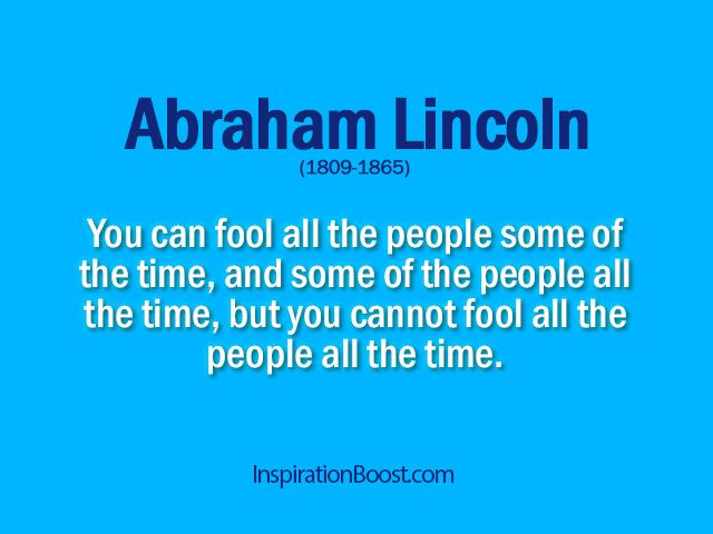 April Fool's Day  - Abraham Lincoln