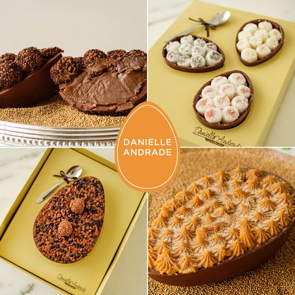 Ovo de Páscoa de chocolate - Danielle Andrade