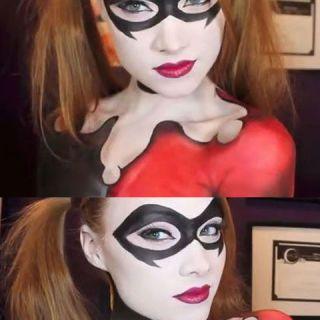 9 best harley images on Pinterest   Halloween makeup, Harley quinn ...