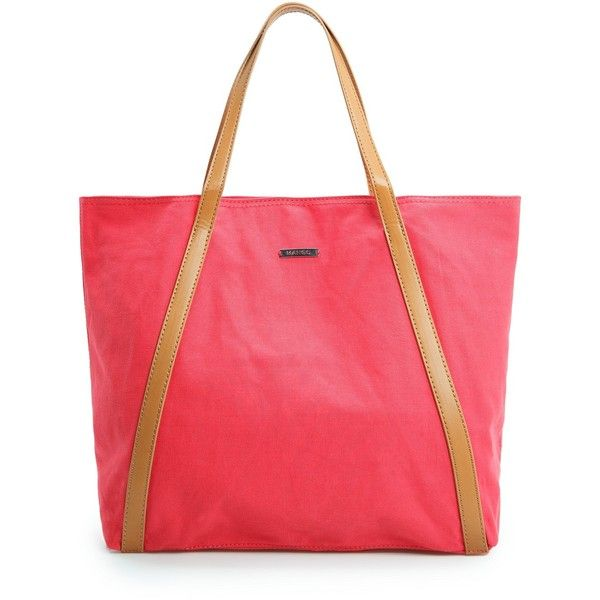 MANGO Cotton shopper bag (56 BAM) ❤ liked on Polyvore featuring bags, handbags, tote bags, mango, strawberry, mango tote, cotton tote, red tote, red shopping bags and mango tote bag