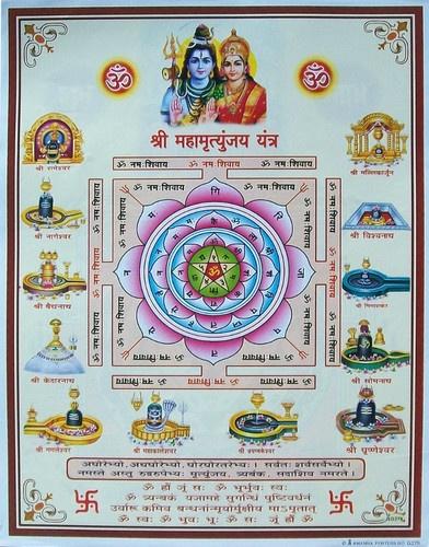 Lord Shiva Lingam, Parvati & Mahamritunjay Yantra