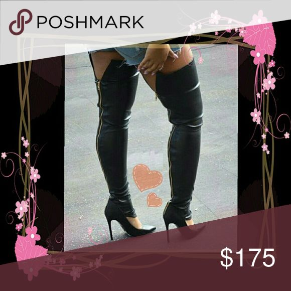 Stretch Thigh High Boots Stiletto Shoes Heels