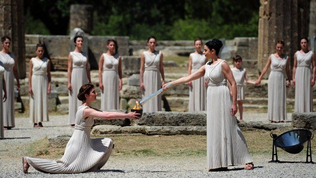 Olympic Games flame has been lit in Olympia, Greece