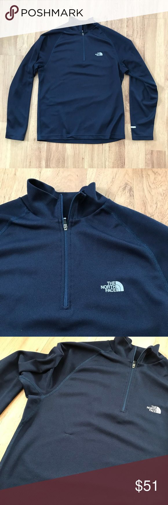 The North Face Men's Navy Quarter Zip Jacket Small thread pull on front ⚜️I love receiving offers through the offer button!⚜️ Good condition, as seen in pictures! Fast same or next day shipping!📨 Open to offers but I don't negotiate in the comments so please use the offer button😊 Check out the rest of my closet for more Adidas, Lululemon, Tory Burch, Urban Outfitters, Free People, Anthropologie, Victoria's Secret, Sam Edelman, Topshop, Asos, Revolve, Brandy Melville, Zara, and American…