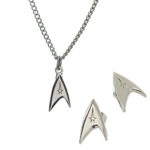Star Trek 3-piece Jewelry Set with Necklace and Earrings @ niftywarehouse.com
