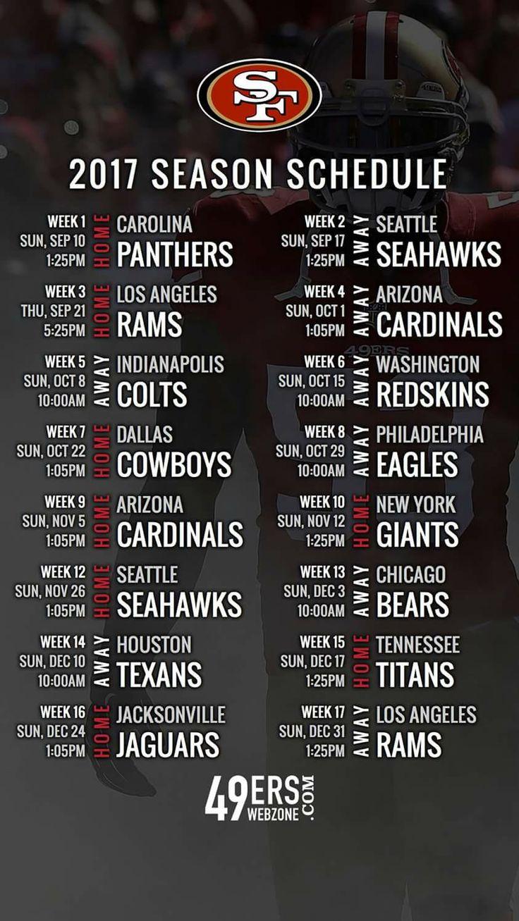 SF 2017 Season Schedule