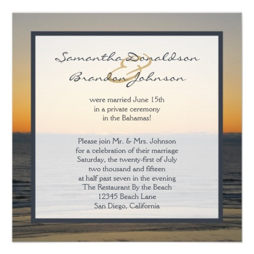 17 Best Ideas About Reception Only Invitations On Pinterest