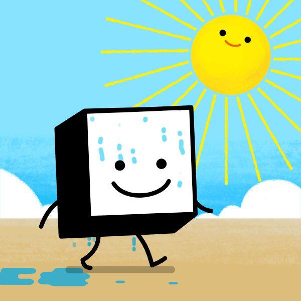 Benny Box summer holiday GIF #bennybox #gif #illustration #summer #holiday #sun #summertime #sweat