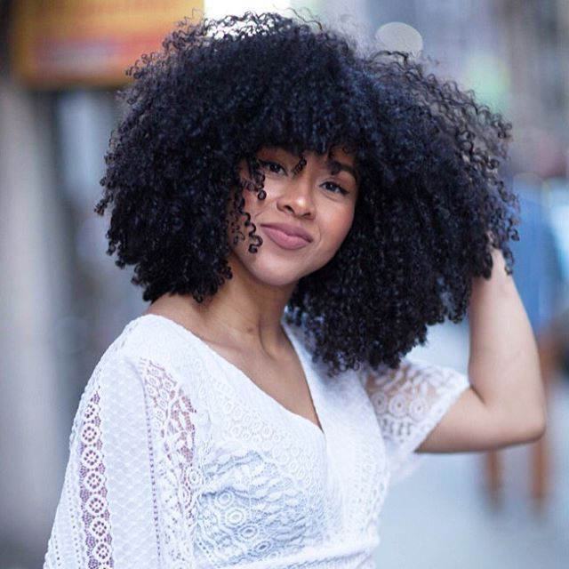 Curly Hair Styles With A Fringe : Top 25 best natural hair bangs ideas on pinterest black curly