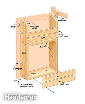 cabinet door storage rack