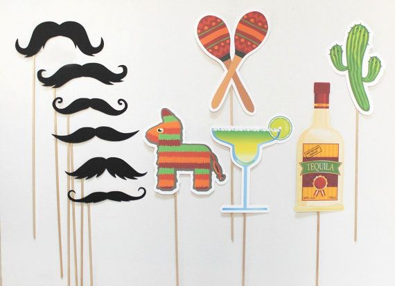 mexican photo booth props