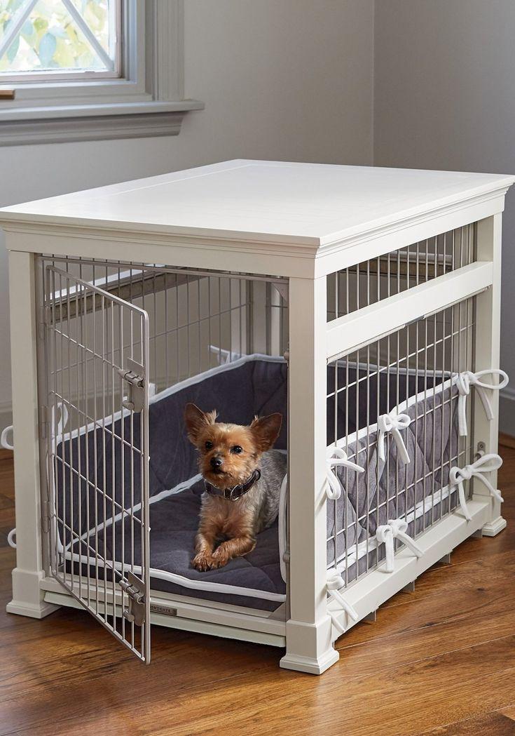 Luxury White Pet Residence Dog Crate FrontgateDog house