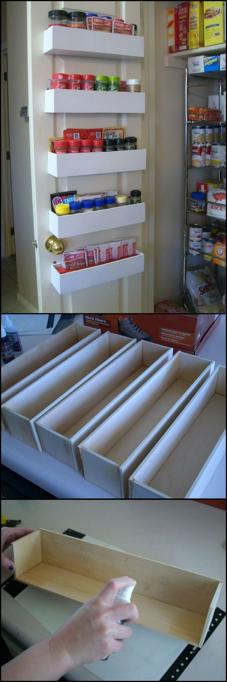 A full album on how to build a DIY pantry door spice rack. & Best 20+ Pantry door rack ideas on Pinterest | Kitchen spice racks ... Pezcame.Com