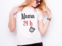 "Koszulka damska ""MAMA 24H"""