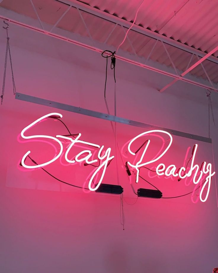 STay Peachy NEON pink sign .⠀⠀⠀⠀⠀⠀⠀⠀⠀ neonsigns