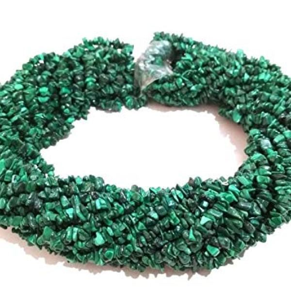 34 Natural Chrysocolla Smooth Nugget Uncut Chips Gemstone Beads AAA Quality Raw Rough Beads Jewelry Making Crafts