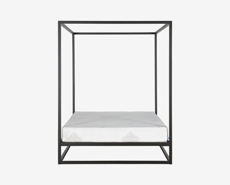 Black classic contemporary Scandinavian canopy bed